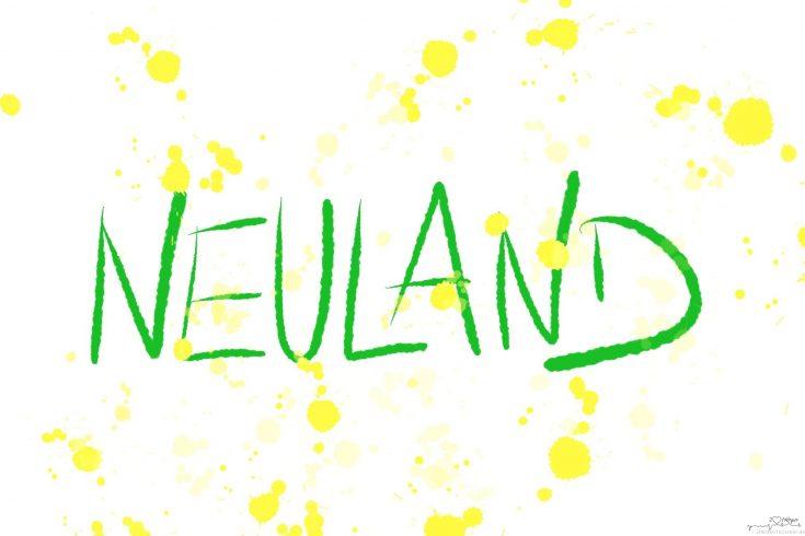 Das Wort Neuland handschriftlich dargestellt, es beschreibt das Gefühl bei der erste Dialyse