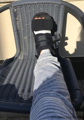Der Fuß im Verbandsschuh
