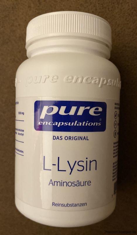 Lysin ist mein Mittel gegen Herpes.