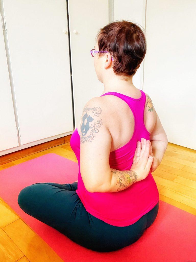 Ich beim Yoga